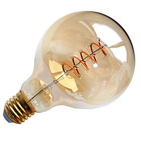 1pcs Dimmable 4W G95 Soft Led Filament Light LED Vintage Lamp Bulb Globe Edison Bulb for Internet Bar AC220-240V