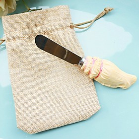 Resin Butter Spreader 13 x 3.5 cm/pcs in Burlap Bag Beter Gifts Summer Party Favor 5696566