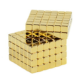 NEWSPOON Magnet Toys 64pcs 5mm Magnet Toys Neodymium Magnet Executive Toys Puzzle Cube DIY Toys Golden Magnetics Cube Education Toys For Gift 5728111