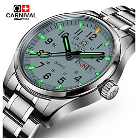 Carnival Men's Wrist Watch Casual Watch Stainless Steel Band Charm / Fashion White