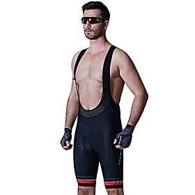 SANTIC Cycling Padded Shorts Men's Bike Bib Shorts Padded Shorts / Chamois Bottoms Summer Bike Wear 3D Pad Breathable Softness Solid 5666653