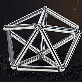 63 pcs 8mm Magnet Toy Magnetic Balls Magnetic Sticks Building Blocks Kid's / Adults' Boys' Girls' Toy Gift / Super Strong Rare-Earth Magnets / Neodymium Magnet