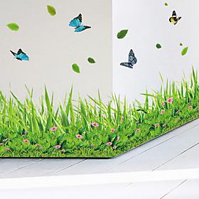 Animals Fashion Botanical Wall Stickers Plane Wall Stickers Decorative Wall Stickers, Vinyl Home Decoration Wall Decal Wall Glass/Bathroom