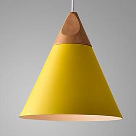 Cone Pendant Light Ambient Light Painted Finishes Aluminum LED 110-120V / 220-240V Warm White Bulb Not Included / E26 / E27