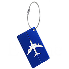 1pc Luggage Tag Anti Lost Reminder for Anti Lost Reminder Aluminium Alloy - White Black Dark Blue tea brown Wine 5714684