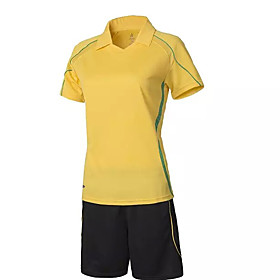 Image of Women's Soccer Tracksuit Spring Summer Fall/Autumn Winter Polyester Yoga Football/Soccer Baseball Yellow White Green Red Pink Light Blue