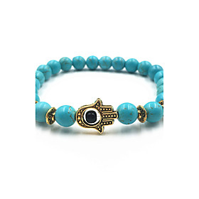 New Arrival Nature Stone Evil Eye Hand Strand Bracelets Daily / Casual 1pc Hot Sale 5674361