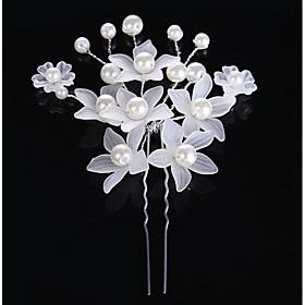 Pearl Crystal Acrylic Alloy Hair Clip Hair Pin Hair Stick Hair Tool Headpiece 5668370