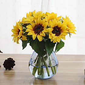 6 Branches Sunflower Artificial Flowers Home Decoration Wedding Supply