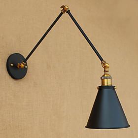 Rustique Lumieres De Bras Oscillant Metal Applique Murale 110 120v / 220 240v 40 W / E26 / E27