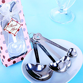 10Box/Set  Heart Shaped Measuring Spoons Wedding Favors Beter Gifts Bridal Shower Favors 5782492