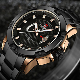 Naviforce Men's Sport Watch / Military Watch / Wrist Watch Japanese Calendar / Date / Day / Water Resistant / Water Proof / Creative Stainless Steel Band Charm
