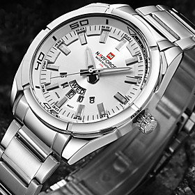 NAVIFORCE Gold Men Watch Luxury Brand Watches Men Sport Full Steel Quartz Wa..