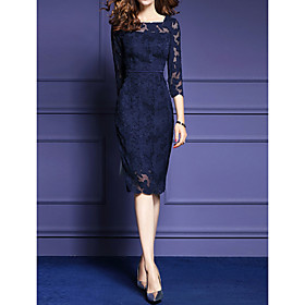 Women's Plus Size Street chic Sheath Dress - Solid Colored 5554794
