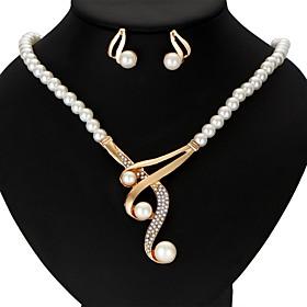 Women's Pearl Jewelry Set Victorian Ladies, Luxury,