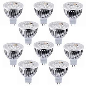 10pcs 5.5 W 450 500 lm MR16 LED Spotlight 4 LED Beads High Power LED Decorative Warm White / Cold White 12 V / RoHS