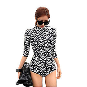 Women Diving Suit UV Swimsuit Conjoined Sun-protective Swimwear Jellyfish Garments Long-sleeve Wetsuit 4953983