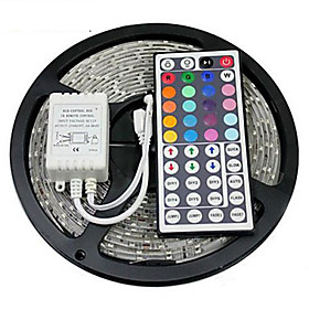 ZZDM Waterproof 5M 24W 300x2835RGB SMD  Light LED Strip Light 44Key IR Remote Controller Kit (DC12V)