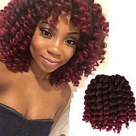 Braiding Hair Curly / Bouncy Curl / Classic Pre-loop Crochet Braids Synthetic Hair 20 roots / pack Hair Braids Ombre Jamaican Bounce Hair Daily 5931538