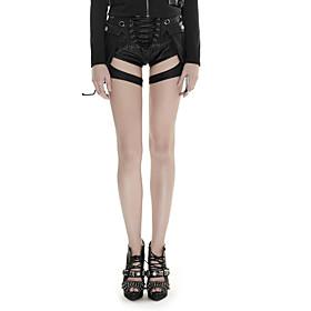 Femme Sexy Street Chic Punk  Gothic Taille basse Micro-élastique Mince Short Pantalon,MinceCouleur métalique brillante Sexy Découpé