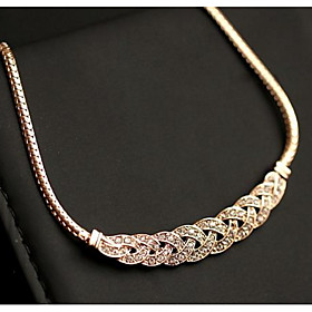 Choker Necklaces Short Necklace Snake Chain Rhinestone Business OL Jewelry