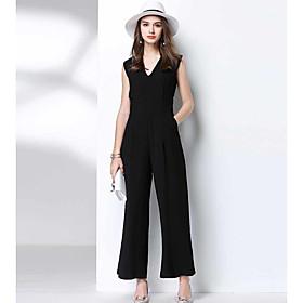 Femme Décontracté Décontracté / Quotidien Combinaison-pantalon,Ample Couleur unie Eté