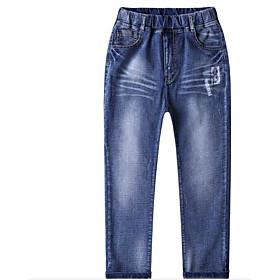 Jeans Garçon Couleur Pleine