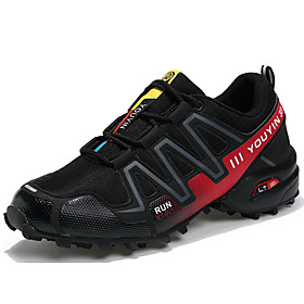 Men's Tulle / PU(Polyurethane) Spring / Fall Comfort Athletic Shoes Running Shoes Dark Blue / Gray / Black / Red
