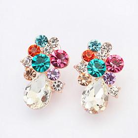 Stud Earrings Women's Girls' Earrings Set Korean Style Multicolor RhinestoneDrop Luxury Delicate Friendship Party Daily Business Movie Jewelry 5982929