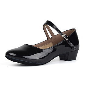 Women's Dance Shoes Patent Leather Modern Shoes/Character Shoes Heel Low Heel Customizable Black / Gold / Silver / Practice / EU39 Category:Modern Shoes; Upper Materials:Patent Leather; Lining Material:Fabric; Heel Type:Low Heel; Actual Heel Height:Customized Heel; Gender:Women's; Range:EU39; Style:Heel; Heel Height(inch):1 - 2; Outsole Materials:Leather; Occasion:Practice; Closure Type:Buckle; Customized Shoes:Customizable; Brand:Shall We; Listing Date:06/20/2017; Production mode:Self-produce; Foot Length:; Foot Width:null; SizeChart1_ID:2:476; Size chart date source:Provided by Supplier.; Base Categories:Apparel  Accessories,Dance Shoes,Shoes; Popular Country:United Kingdom,Australia,France,United States