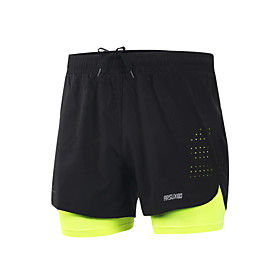Running Shorts Quick Dry Lightweight Materials Reflective Strips Reduces Chafing Shorts Bottoms for Yoga Camping / Hiking Taekwondo 5940054