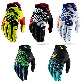 Motorcycle gloves cross country racing gloves bike riding gloves Full Finger Superfine fiber