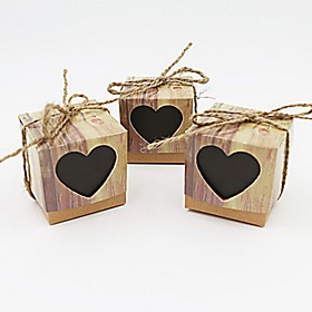 50pcs Sweetheart Love Kraft Favor Box Gift Box Rustic Party Candy Box 5x5x5cm/pcs Beter Gifts Wedding Candy Decoration 5974584