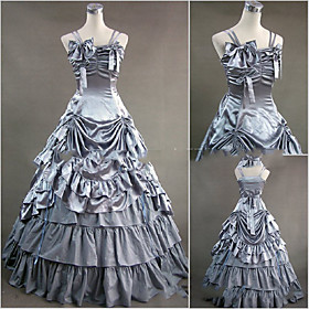 Image of One-Piece/Dress Gothic Lolita Lolita Cosplay Lolita Dress Vintage Cap Floor-length Dress For Other