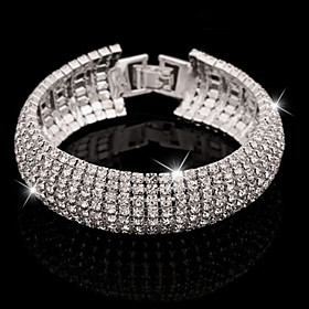 Women's Bracelet/Bangle Tennis Bracelet Crystal Cuff Luxury Basic Elegant Im..
