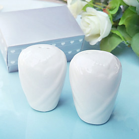 Wedding Gowns Salt and Pepper Shakers Set Wedding Favor 8.55.54.5cm/box Beter Gifts Life Style Dress LGBT / The Same Sex