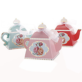 Image of 25pcs Creative Teapot Wedding Favor Box Candy Box Party Decoration
