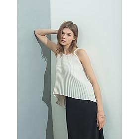 Tee-shirt Femme,Couleur Pleine Fleur Quotidien Décontracté Sexy simple Sans Manches Col Ras du Cou Polyester