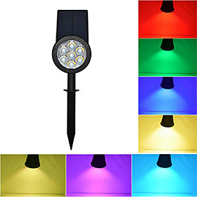 1pc LED Floodlight / Lawn Lights Waterproof / Solar / Dimmable RGB Outdoor Lighting / Courtyard / Garden