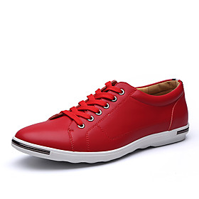 Men's Fashion Boots Microfiber Spring / Fall Casual / Comfort Sneakers Yellow / Red / Blue / Wedding / Party  Evening 5912093