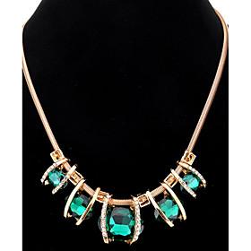 Pendant Necklaces Chain Necklaces Women's Oval Imitation Diamond Rhinestone ..