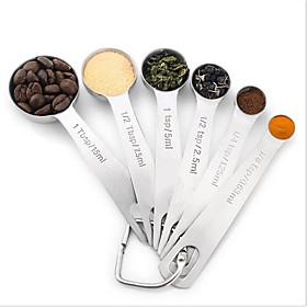 Stainless Steel Spoon (6 WoollySeasoning Scoop Baking Calibration Measurement Seasoning Keys Circular Spoon Color Box 5974647