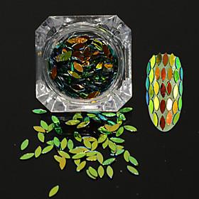 0.2g/bottle New Fashion Shining Horse Eye Leaf Paillette Design Nail Art DIY Graceful Sequins Charming Decoration Glitter Flakes MB07 3204