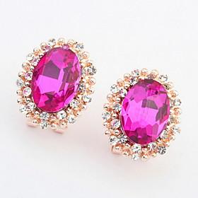 Stud Earrings Women's Girls' Earrings Set Korean Style Oval Rhinestone Elegant Luxury Delicate Friendship Party Daily Business Movie Jewelry 5982931