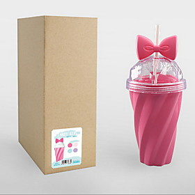 Summer Ice Cool Cup Simple Handy Juice Cup Small Fresh Candy Color Girl Heart Bowknot Tube Water Cup 5968821