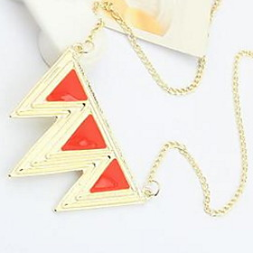 Pendant Necklaces Punk Exaggerated Triangle Sweater Chain Blue Womens' Jewelry