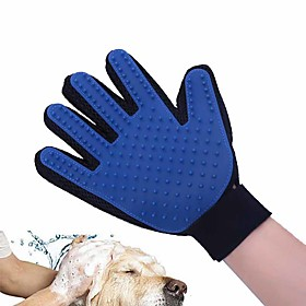 High-quality Pet Products Dog Accessories Cats Dogs Massage Glove Soft TPR Pet Bath Brush Shower Grooming Comb Right Hand Apply 6026377