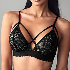 Women's  Fashion Sexy Hollow Out 3/4 cup Bras,Padless Bra Lace 5159662
