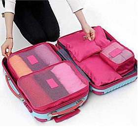 Textile Plastic Oval Novelty Multi-functional Home Organization, Six-piece Suit Storage Bags