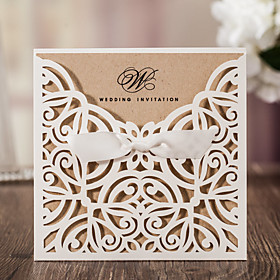 Wrap Pocket Wedding Invitations 10 - Invitation Cards Classic Style Embossed Paper